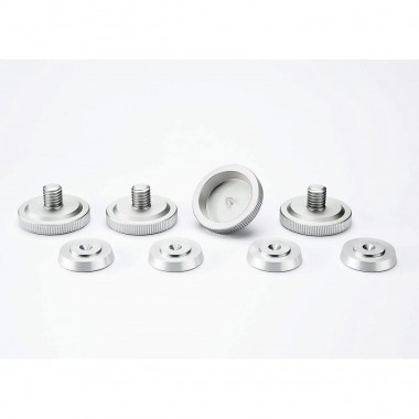 Set of four - Spikes M8 silver anodized