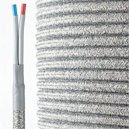 HQ Textil Lautsprecherkabel grau-weiß 2 x 4 mm²