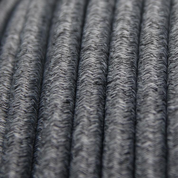INKLANG HQ Textil Lautsprecherkabel grau-weiß 2 x 4 mm²