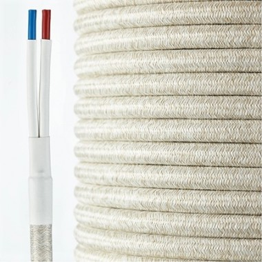 HQ Textil Lautsprecherkabel beige-natur 2 x 4 mm²