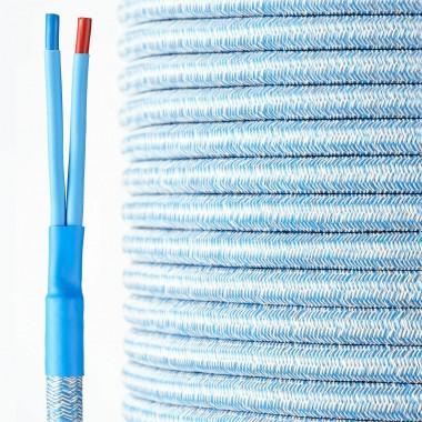 HQ Textil Lautsprecherkabel jeans-blau 2 x 4 mm²