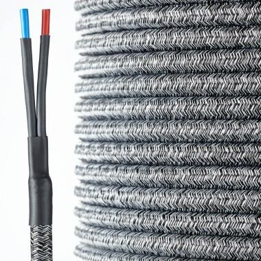 HQ Textil Lautsprecherkabel schwarz-weiß 2 x 4 mm²