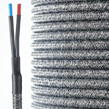 HQ Textil Lautsprecherkabel schwarz-weiss 2 x 4 mm²