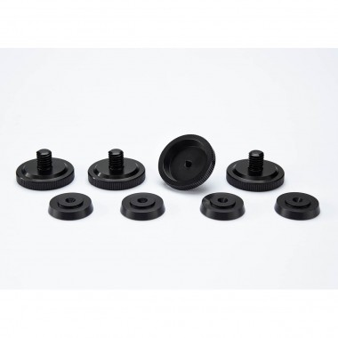 4er Set Rändel-Spikes M8 schwarz eloxiert