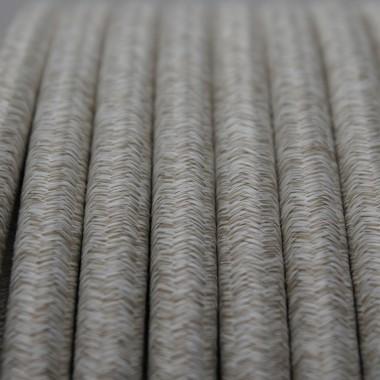 INKLANG HQ Textil Lautsprecherkabel natur-weiß 4 x 4 mm²