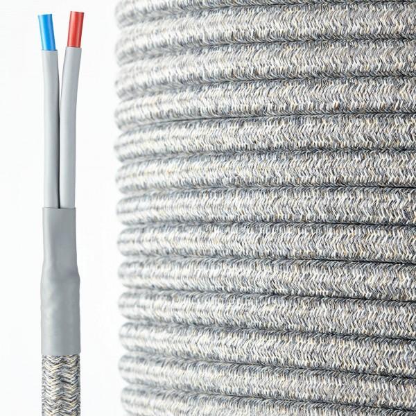 HQ Textil Lautsprecherkabel grau-weiss 2 x 4 mm²