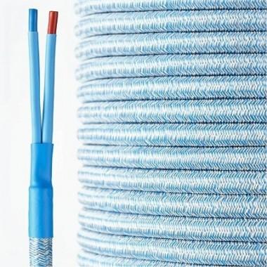 HQ textile speaker cable jeans-blue  2 x 4 mm²